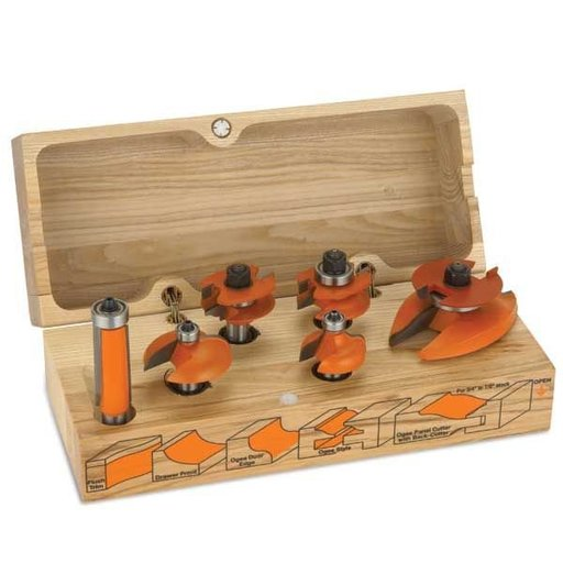 """View a Larger Image of 800.520.11 Cabinetmaking Router Bit Set Ogee Profile - 1/2""""SH"""
