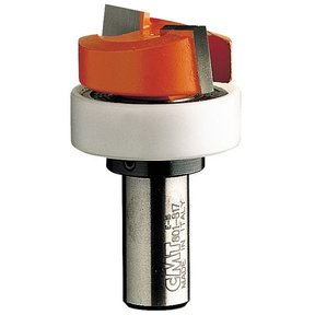 """801.817.11B Mortising Router Bit with Top Bearing 1/2""""SH 1-1/4""""D 1/2""""CL 1-1/4""""BD"""