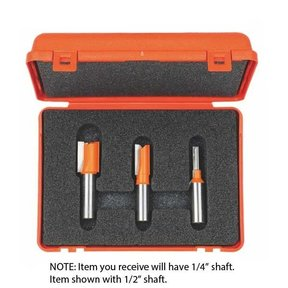 """811.001.11 Plywood Groove Router Bit Set with 1/4"""" shaft"""