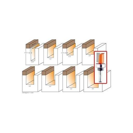 "View a Larger Image of 811.142.11B Pattern Router Bit 1/4""SH 9/16""D 9/16""CL 2-1/4""OL 5/8""BD"