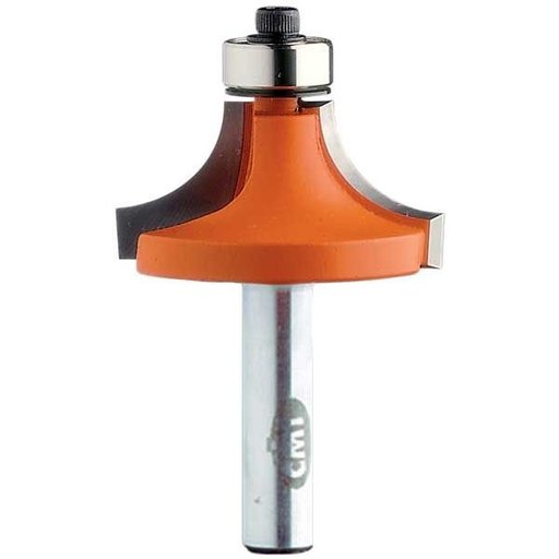 """View a Larger Image of 838.380.11 Roundover Router Bit 1/4""""SH 1/2""""R 1-1/2""""OD 3/4""""CL 1/2""""BD"""