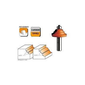 "841.380.11 Classical Router Bit 1/4""SH 1/4""CR 1-11/16""OD 3/4""CL"