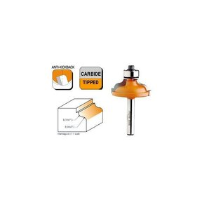 """846.325.11 Ogee with Fillet Router Bit 1/4""""SH 3/16""""-9/64""""R 1-3/8""""OD 1/2""""CL"""
