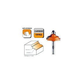 """847.325.11 Ogee with Fillet Router Bit with Inset Bead 1/4""""SH 3/16""""-9/64""""R 1-3/8""""OD 1/2""""CL"""