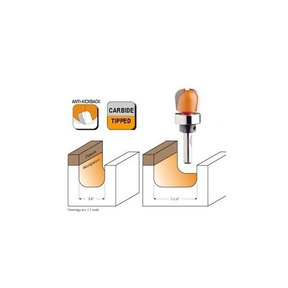 """851.501.11B Bowl And Tray Router Bit with Top Bearing 1/2""""SH 1/4""""R 3/4""""D 5/8""""CL"""