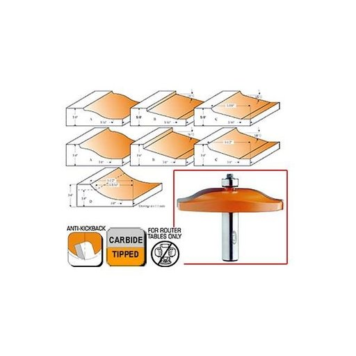 """View a Larger Image of 890.502.11 Horizontal Raised Panel Router Bit B 1/2""""SH 3-1/4""""OD 19/32""""CL"""