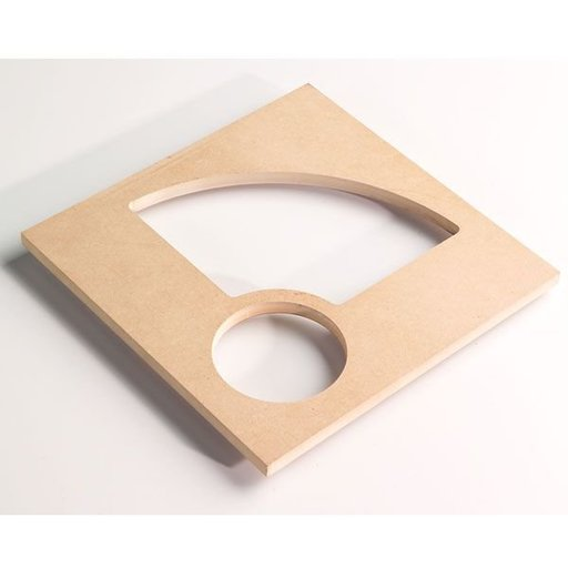 View a Larger Image of Bowl and Tray Router Template, Quarter with Center, # TMP-011