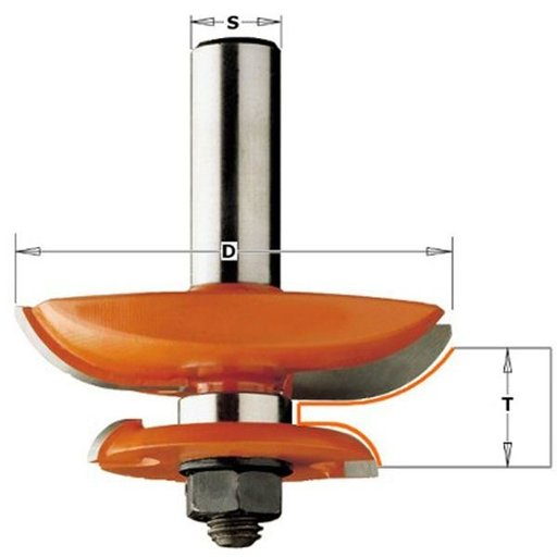 """View a Larger Image of Large Raised Panel Bit Cove 1/2""""SH 3-1/2""""OD 3/4"""" to 1""""ST  -  Part: 890.527.11"""