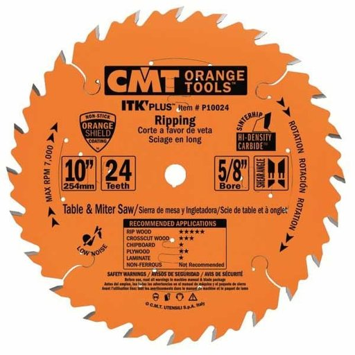 """View a Larger Image of P10024 Ripping Saw Blade, 10"""" x 24T x 5/8"""" bore"""