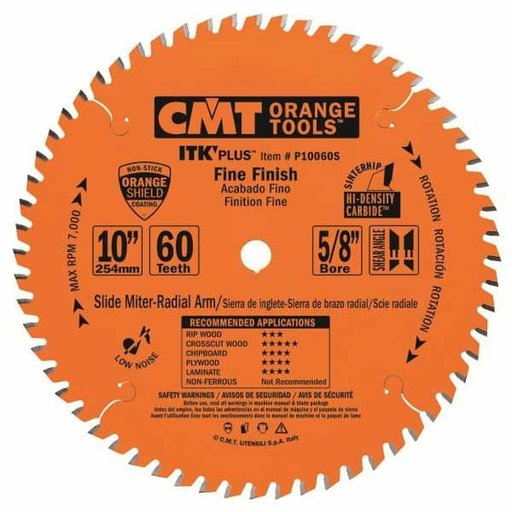"""View a Larger Image of P10060S Fine Finish on Slide/Miter Saw Blade, 10"""" x 60T x 5/8"""" bore"""