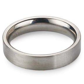 Comfort Ring Core - 64AL-4V Titanium - 4mm, Size 8