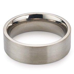 Comfort Ring Core - 64AL-4V Titanium - 6 mm - Size 8