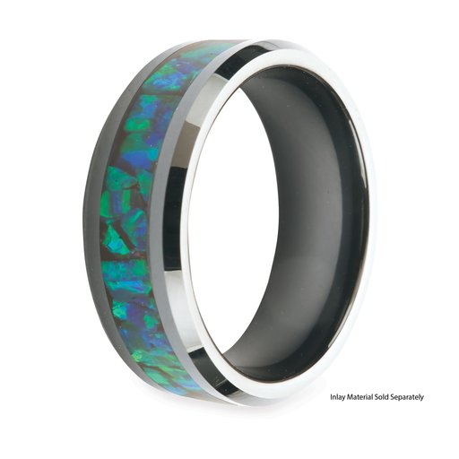 View a Larger Image of Comfort Ring Core - Black Ceramic - 8mm, Size 11.5