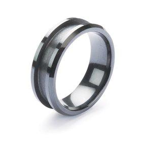 Comfort Ring Core - Black Ceramic - 8mm, Size 14