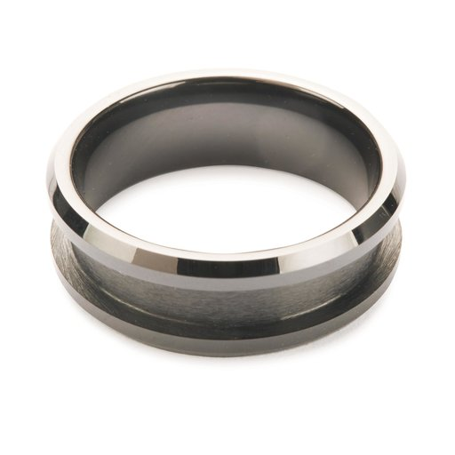 View a Larger Image of Comfort Ring Core - Black Ceramic - 8mm, Size 14