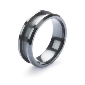 Comfort Ring Core - Black Ceramic - 8mm, Size 9.5