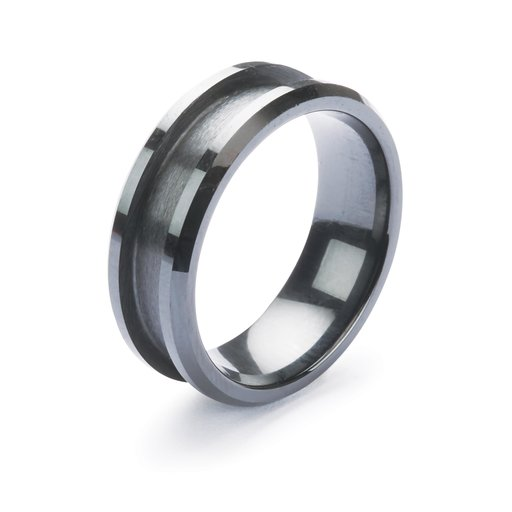 View a Larger Image of Comfort Ring Core - Black Ceramic - 8 mm - Size 9