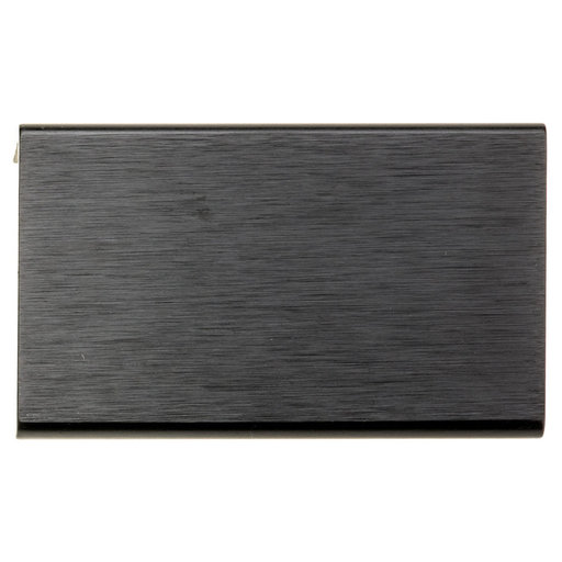 """View a Larger Image of Contemporary Edge Pull, 1-31/32"""" Center-to-Center, Brushed Black"""