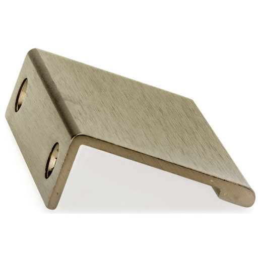 """View a Larger Image of Contemporary Edge Pull, 1-31/32"""" Center-to-Center, Champagne Bronze"""