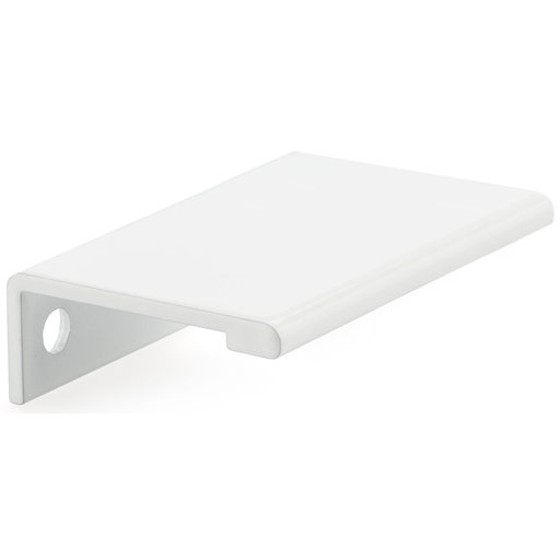 """View a Larger Image of Contemporary Edge Pull, 1-31/32"""" Center-to-Center, White"""