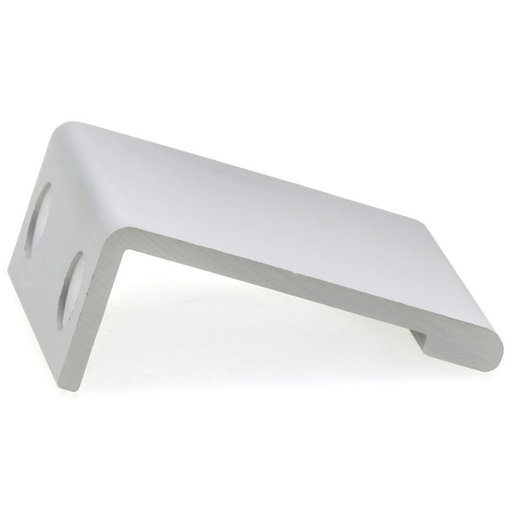 """View a Larger Image of Contemporary Edge Pull, 1"""" Center-to-Center, Aluminum"""