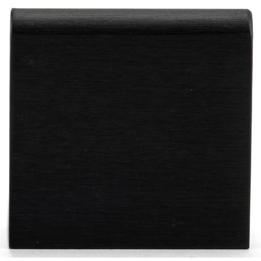 """View a Larger Image of Contemporary Edge Pull, 1"""" Center-to-Center, Brushed Black"""