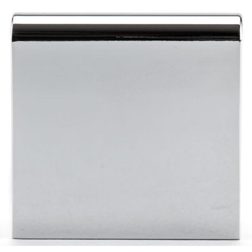 """View a Larger Image of Contemporary Edge Pull, 1"""" Center-to-Center, Chrome"""