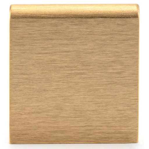 """View a Larger Image of Contemporary Edge Pull, 1"""" Center-to-Center, Satin Gold"""