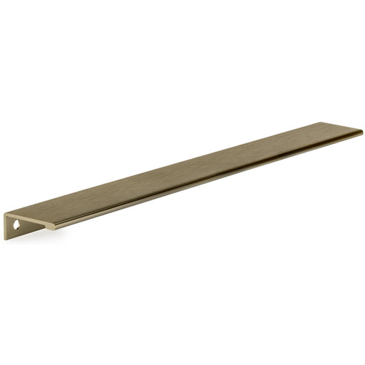 """View a Larger Image of Contemporary Edge Pull, 16-3/8"""" Center-to-Center, Champagne Bronze"""