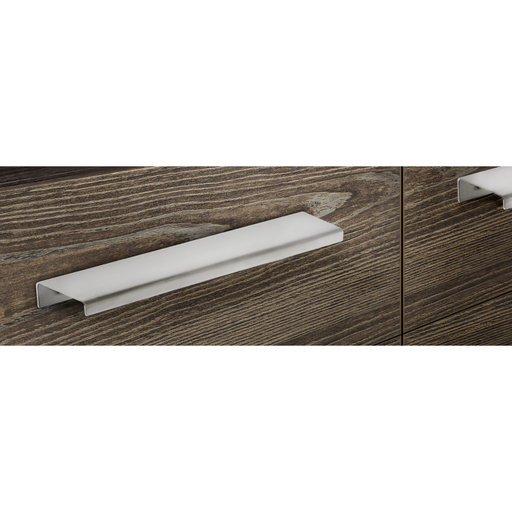 """View a Larger Image of Contemporary Edge Pull, 20"""" Center-to-Center, Stainless Steel"""