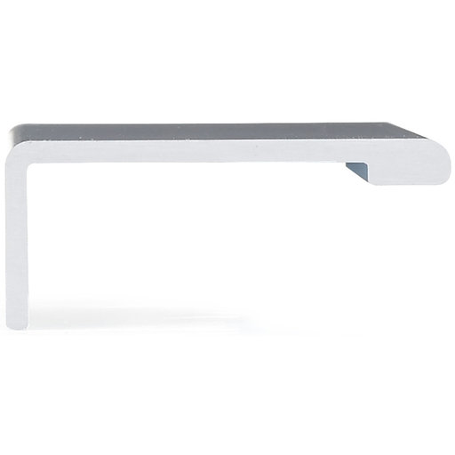 """View a Larger Image of Contemporary Edge Pull, 3-1/8"""" Center-to-Center, Aluminum"""