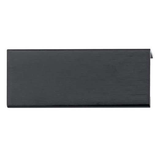 """View a Larger Image of Contemporary Edge Pull, 3-1/8"""" Center-to-Center, Brushed Black"""