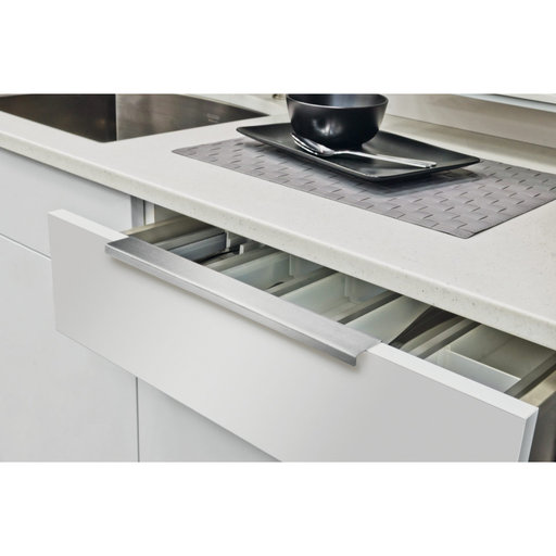 """View a Larger Image of Contemporary Edge Pull, 4"""" Center-to-Center, Stainless Steel"""