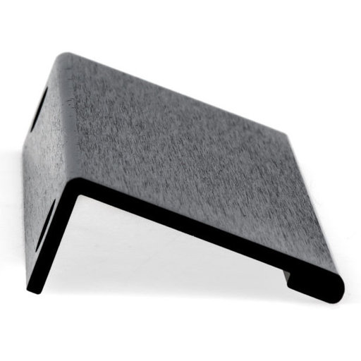 """View a Larger Image of Contemporary Edge Pull, 5-1/16"""" Center-to-Center, Brushed Black"""