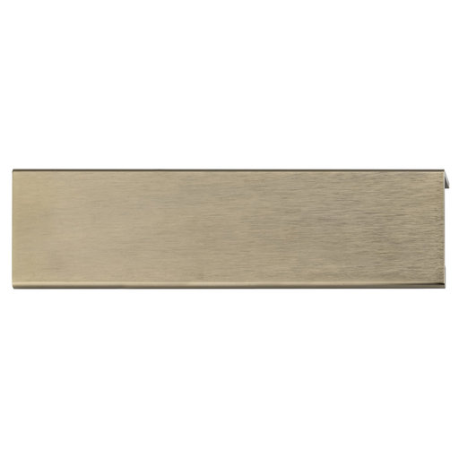 """View a Larger Image of Contemporary Edge Pull, 5-1/16"""" Center-to-Center, Champagne Bronze"""