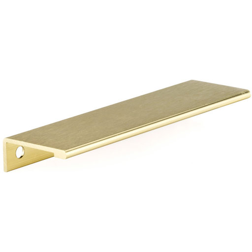 """View a Larger Image of Contemporary Edge Pull, 5-1/16"""" Center-to-Center, Satin Gold"""