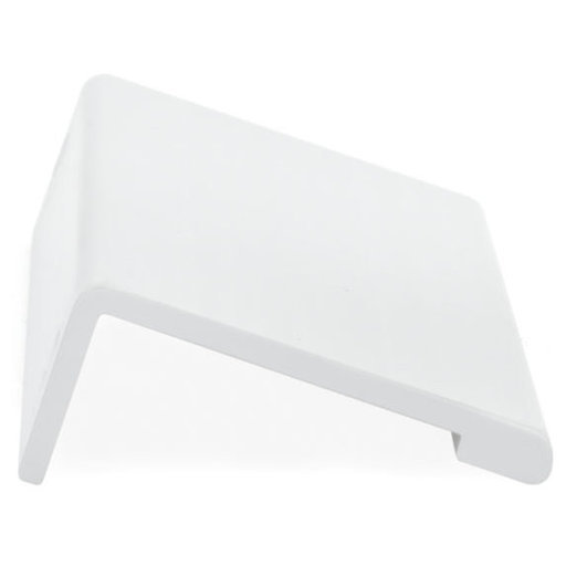 """View a Larger Image of Contemporary Edge Pull, 5-1/16"""" Center-to-Center, White"""