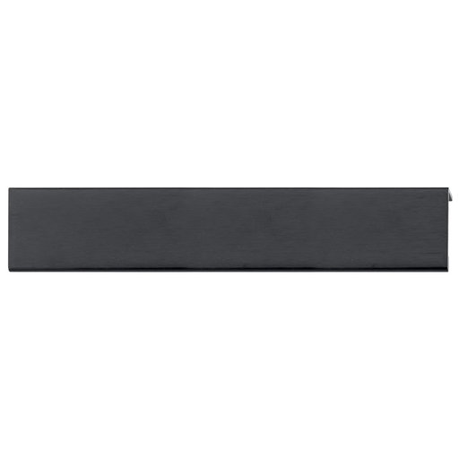 """View a Larger Image of Contemporary Edge Pull, 7-9/16"""" Center-to-Center, Brushed Black"""