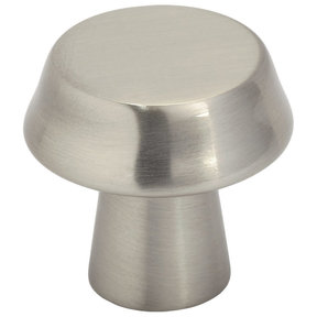 """Contemporary Knob, 1-1/16"""" D, Brushed Nickel"""