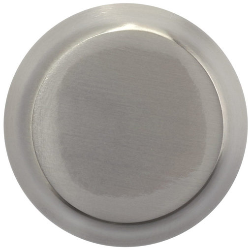 """View a Larger Image of Contemporary Knob, 1-1/16"""" D, Brushed Nickel"""