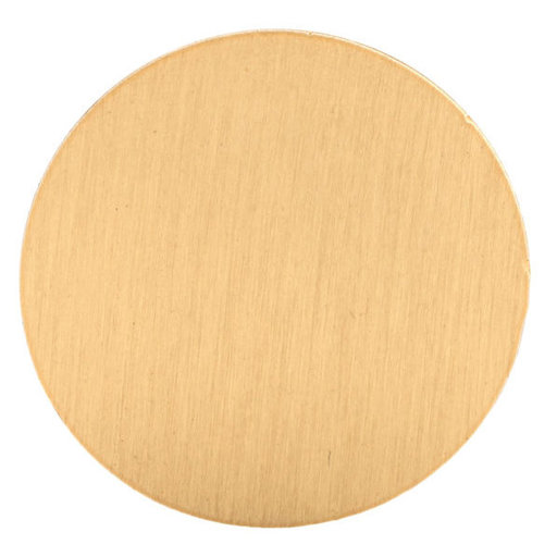 """View a Larger Image of Contemporary Knob, 1-1/32"""" D, Brushed Gold"""