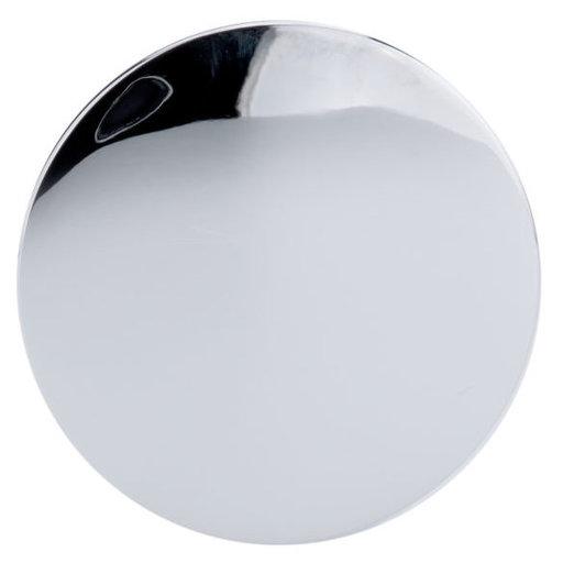 "View a Larger Image of Contemporary Knob, 1-1/32"" D, Chrome"