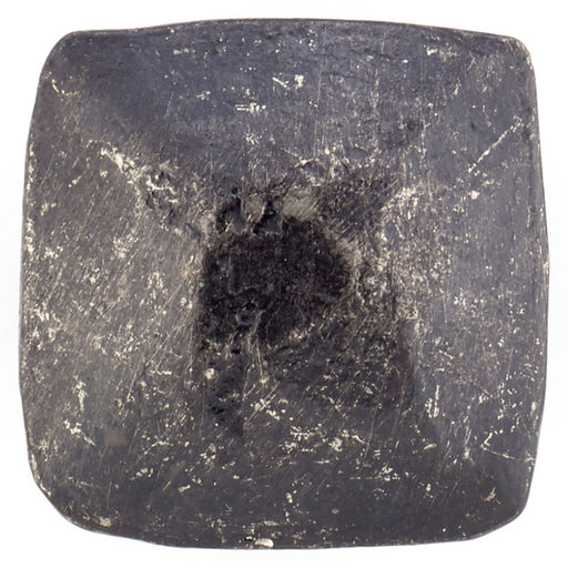 """View a Larger Image of Contemporary Knob, 1-1/32"""" x 1-1/32"""", Matte Black Iron"""