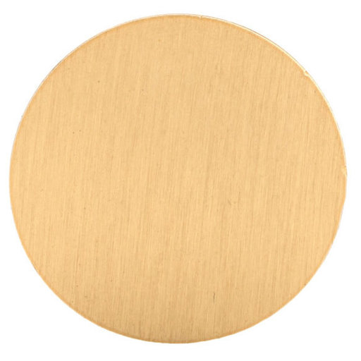 """View a Larger Image of Contemporary Knob, 1-1/4"""" D, Brushed Gold"""