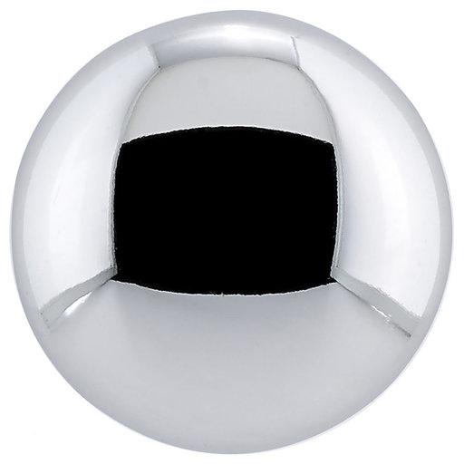 "View a Larger Image of Contemporary Knob, 1-1/4"" D, Chrome"