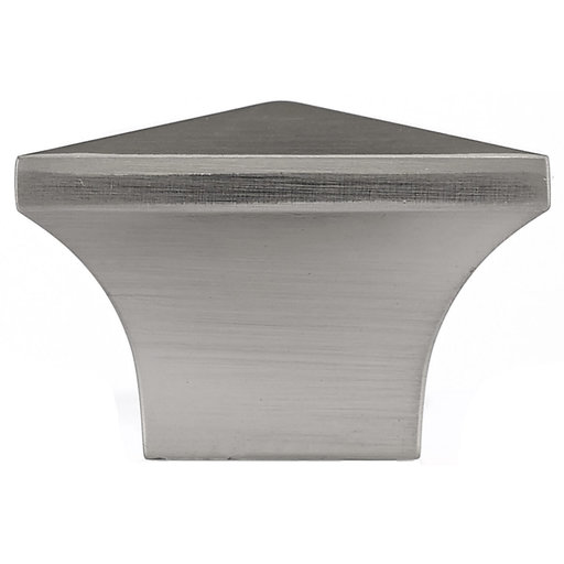 """View a Larger Image of Contemporary Knob, 1-1/4"""" x 1-1/4"""", Brushed Nickel"""