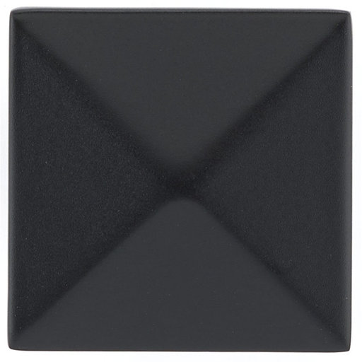 """View a Larger Image of Contemporary Knob, 1-1/4"""" x 1-1/4"""", Matte Black"""