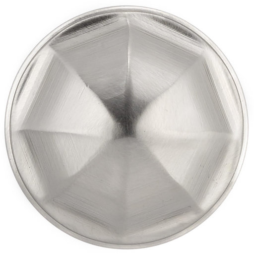 """View a Larger Image of Contemporary Knob, 1-1/8"""" D, Brushed Nickel"""