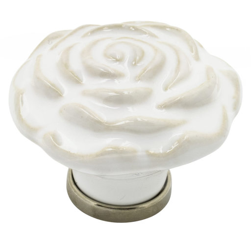 """View a Larger Image of Contemporary Knob, 1-11/16"""" D, White"""