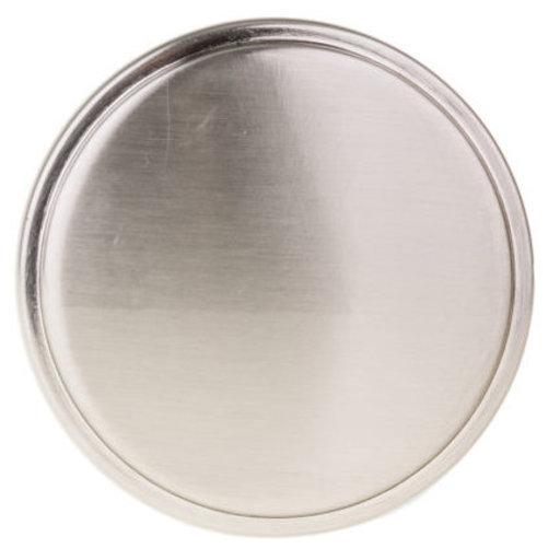 """View a Larger Image of Contemporary Knob, 1-11/32"""" D, Brushed Nickel"""